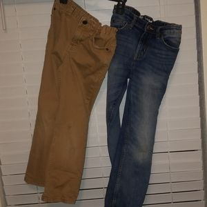 Two Pairs Boys Size 7 Jeans